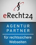 Siegel: eRecht24 Agentur Partner für rechtssichere Webseiten (Datenschutz-Grundverordnung)