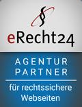 Siegel: eRecht24 Agentur Partner fürrechtssichere Webseiten